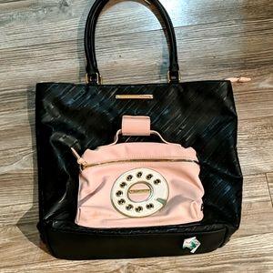 Betsey Johnson Kitsch Phone Tote